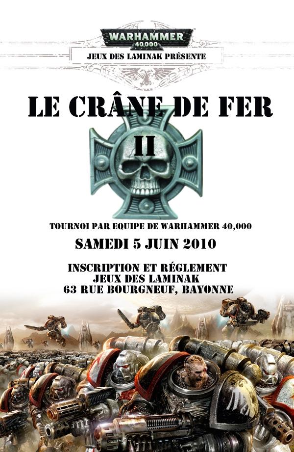 Le Crâne de Fer II, Tournoi par équipe de WH40k Cranedefer2