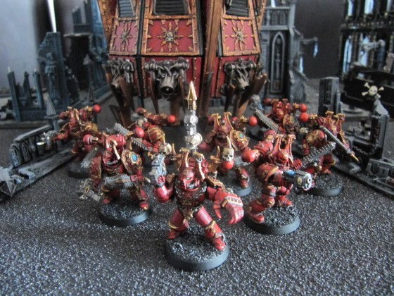 World Eaters Malifas's Warband Equarrisseursrouges